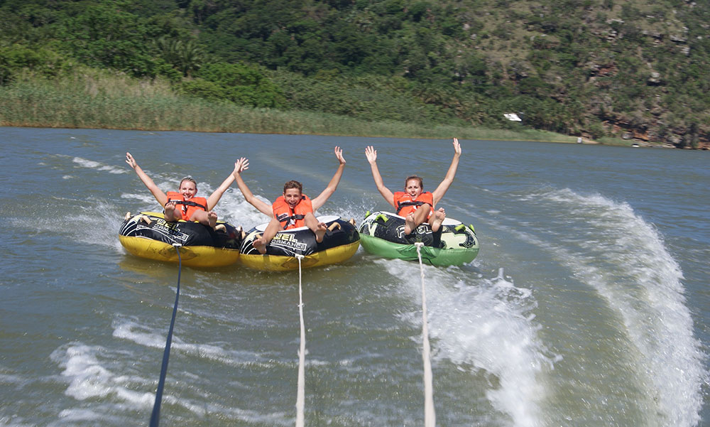 Water sports at the old Pont at Oribi Gorge-Albatross Guesthouse - Southbroom -South Coast things to Do
