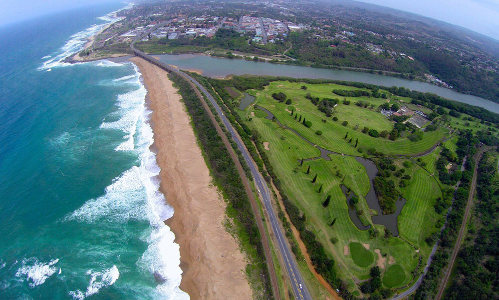 Albatross Guesthouse - Southbroom -South Coast Golf Holidays- Port Shepstone Country Club- aerial view
